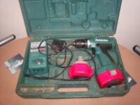makita 14.4 v battery drill with 2 batteries