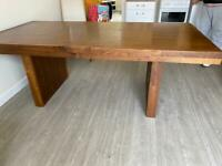 Conference/banquet table with hidden drawers each end