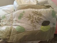 Cot Bumper and summer sleeping bag