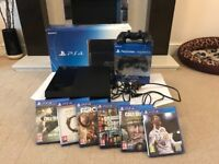 Great condition 500gb PS4 with 2 controllers, FIFA 18, COD WW2 and 4 more games