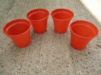 """4 Terracotta Brown Whitefurze 5"""" (12.7cm) Garden Plant / Flower Pots"""