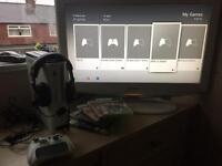 Xbox 360 60gb with games an wireless