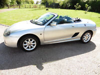 2002, MG TF 135, £1,495, Private TF Number Plate, Silver with Blue Roof, 68k Miles, Long MOT, Manual