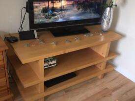 Solid Oak tv stand / unit