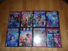 Monster High DVDs x 8