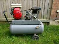 Pertol air compressor tool with honda engine fully working