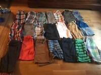Boys summer bundle of clothes, shorts, t shirts, joules, m&s, next etc