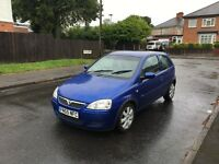 VAUXHALL CORSA 55 REG LONG MOT GOOD RUNNER