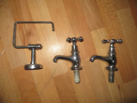 Bristan taps, Bristan Colonnial taps and a toilet roll holder