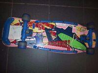 Vintage skateboard with Thunderbirds theme