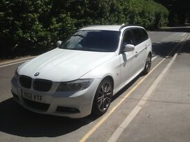 2012 BMW 318d Sports Plus Touring Estate White *£30 tax * New clutch full leather(not 320d 330d 335d