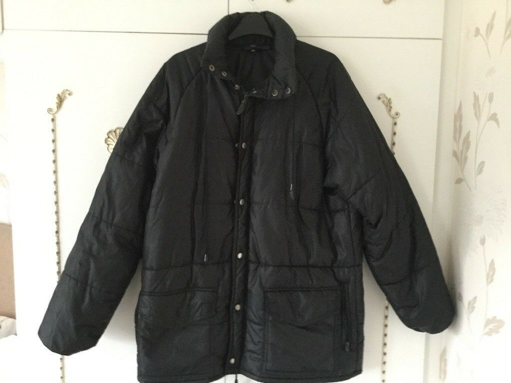 "Black padded waterproof jacket size40"""