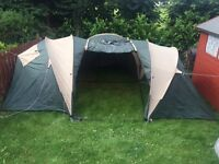 6 man tent , 5 sleeping bags, 5 air beds and new single ring gas stove with 4 gas