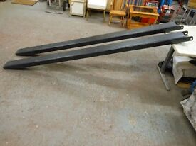 8ft 4 ins long x 5.5ins internal width forklift extensions. thick gauge very heavy, can deliver
