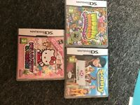 3 girls Nintendo DS games. Hello Kitty, Moshi Monsters, Sonny With A Chance