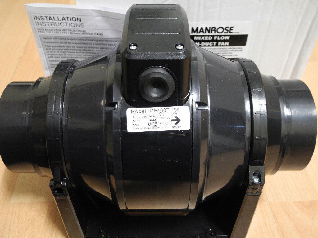 Tremendous Manrose Mf100T Inline Duct Fan In Bournemouth Dorset Gumtree Wiring Database Wedabyuccorg