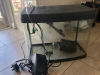 40L fish tank,with stand with everything you need to get started plus more