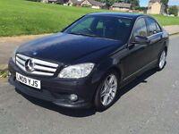 Mercedes-Benz C Class 2.1 C220 CDI SPORT AMG,AUTO/TRIP,PADEL SHIFT,NEW SHAPE 09REG,HPI CLEAR,1 OWNER