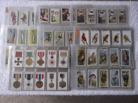 8 complete sets of cigarette cards in plastic sleeves - Players, Wills and Gallaher