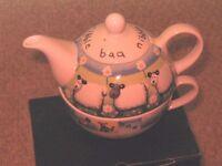 Royal Worcester Tea for One 'Baa' Sheep Set