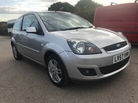 ***VERY LOW MILES ONLY 12k***2007 57 REG FORD FIESTA 1.4 GHIA,JUST SERVICED,1 YEAR MOT.12k