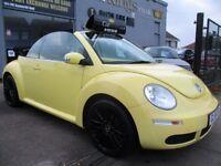 VOLKSWAGEN BEETLE 1.6 Luna Cabriolet 2dr (yellow) 2006