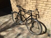Black NO LOGO Single Speed and Fixed Gear Bicycle