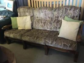 3 Seater Sofa Settee cottage style wooden frame