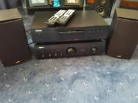Denon cd player and amplifier whith Polk speakers brand new