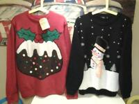 """LADIES/GENTS SIZE 16/18 .. M/L38-40 .. """"CHRISTMAS JUMPERS"""" .. NEW AND UNWORN"""