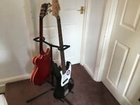 Double guitar & 5-way guitar stand.