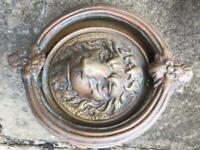Antique brass door furniture