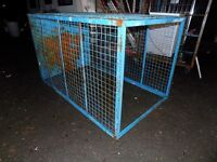 Large cage suitable for dog run.