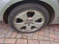 Audi 17 inch alloys 4 good tyres