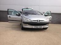 PEUGEOT 206, PETROL 1.3 LOW MILEAGE (CLEAN & TIDY) CHEAP CAR FOR SALE WITHOUT MOT