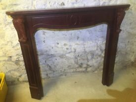 Dark oak fire surround