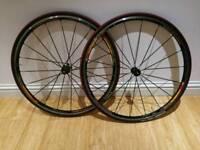 Mavic Ksyrium Elite 2009 Clincher Wheelset with race tyre, tube, Shimano 10 speed hub for Road Bikes