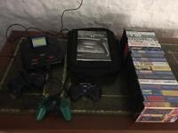 Sega Mega Drive 2 + 3 controllers + 19 games
