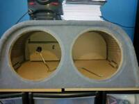 Fli double active subwoofer box and amp