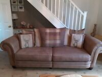 Excellent condition 4 seat sofa and cuddle chair
