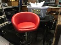 Free red bar stool. Sorry gone