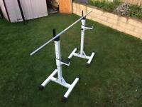 Max Fitness Barbell Bench Press / Squat Stand