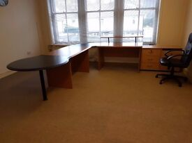 Office Desk & Drawers & Chair