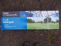"Football goal for garden, 6 x 4 "" metal, new from Tesco, never used"