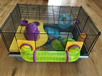 Hamster cage hardly used with lots of accessories & play things for your furry friend