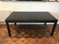 Ikea Bjursta Black/Brown Extending Dining Room Table and Bench