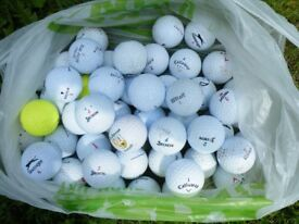 100 USED CLEAN GOLF BALLS