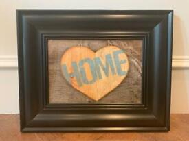 Framed 'Home' Print