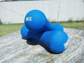 Pair of 3kg Body Sculpture dumbbells
