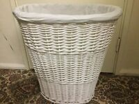 White wicker basket in very good condition only £10